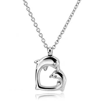 Heart Dolphin Stainless Steel Jewelry CMJ112