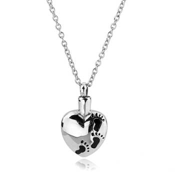 Little Footprints in My Heart Stainless Steel Jewelry CMJ132