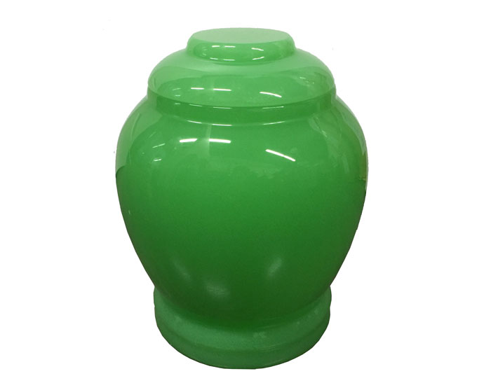 Royal Green Jade Urn MAU204