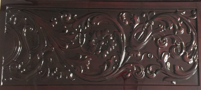 Marsellus mahogany carved top