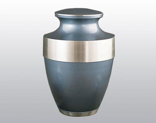 blue metal urn