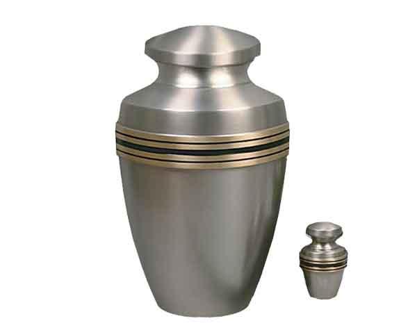 Silver Lining Metal Urn MU206