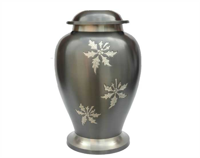White Snow Metal Urn MU227