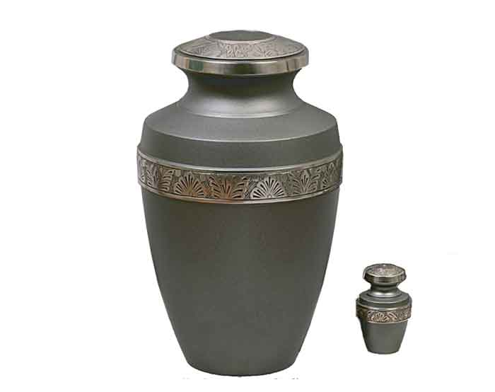 Elegant Grey Metal Urn 232