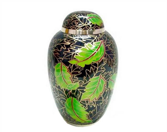 Evergreen Forest Metal Urn MU240