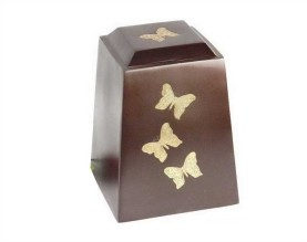 Afternoon Butterfly Metal Urn MU246