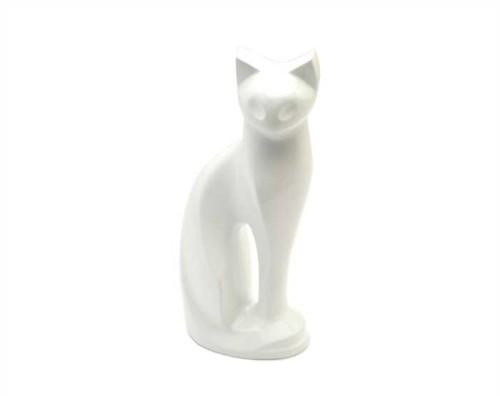 White Cat Metal Urn MU111
