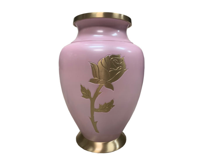 Passion Rose Metal Urn MU301