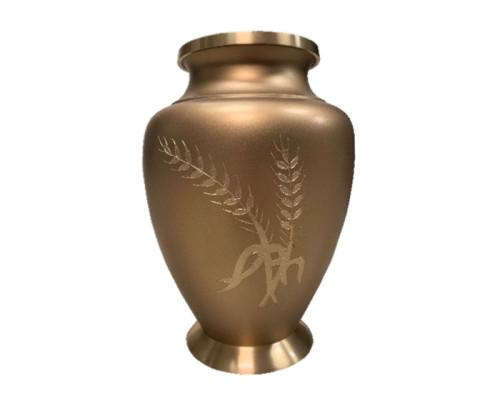 Golden Wheat Metal Urn MU321