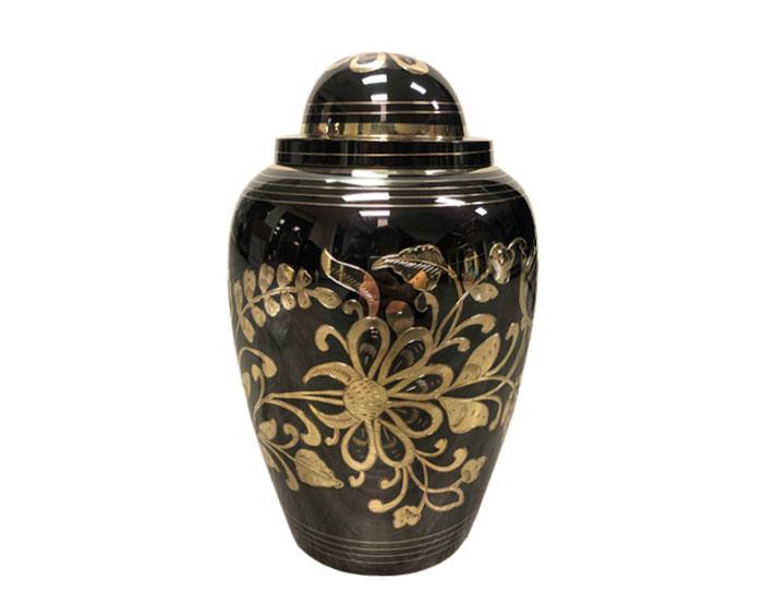 Floral Metal Urn MU323