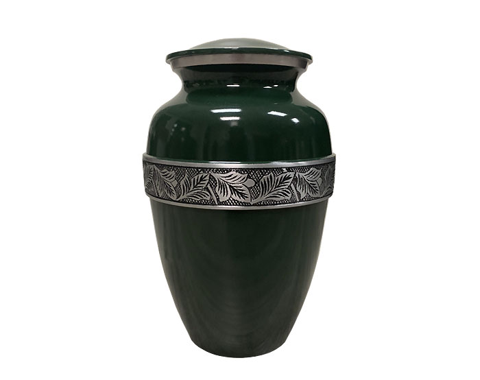Hunter Green Metal Urn MU310